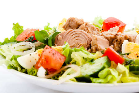mixed colors: Tuna and vegetable salad