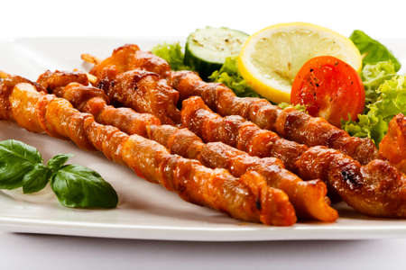 shish: Grilled meat and vegetables
