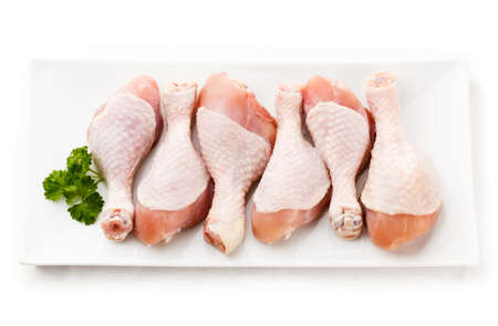 raw chicken: Raw chicken legs on white background