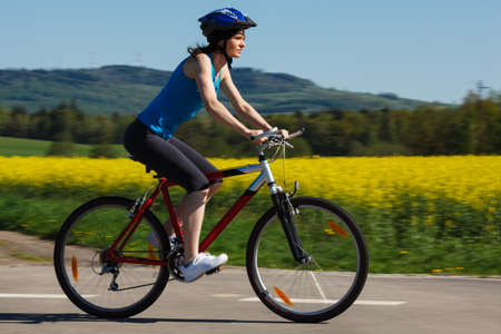 bicyclists: Woman cycling