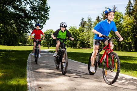 12 13: Cyclists Stock Photo