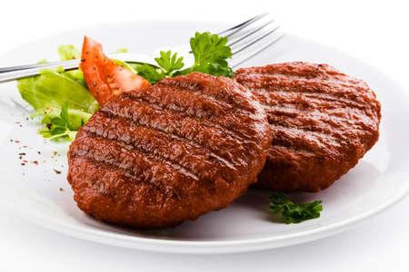 Grilled steaks and vegetables Stock Photo - 16886244
