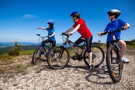 bike riding: Family biking