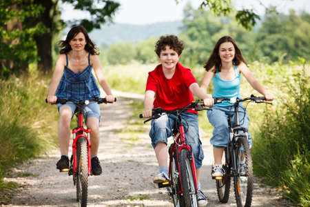12 13: Active family biking