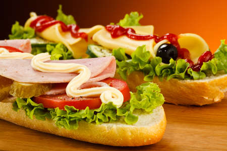 Long sandwiches Stock Photo - 17116519