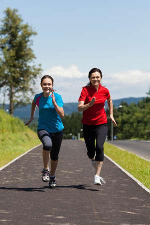 Women running photo