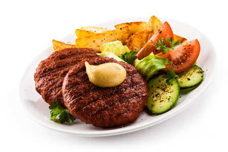 Grilled steaks and vegetables Stock Photo - 17475442