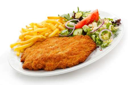 karaj: Karaj, sült krumpli és zöldség