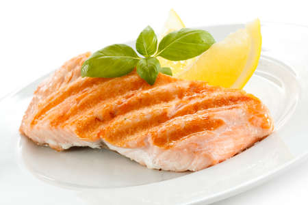 grilled fish: Grilled salmon