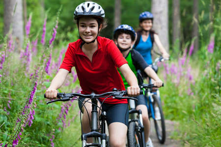 cycle ride: Family biking