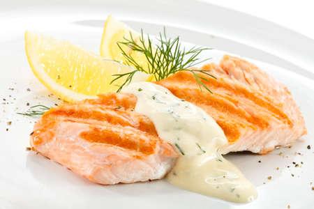 Grilled salmon Stock Photo - 18422307
