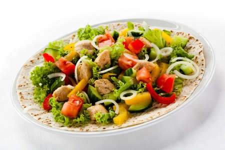 Kebab - grilled meat and vegetables Stock Photo - 18421549