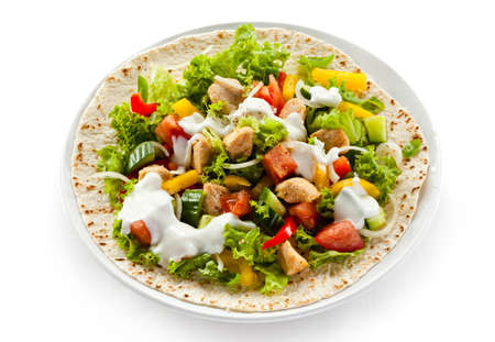 Kebab - grilled meat and vegetables Stock Photo - 18538417