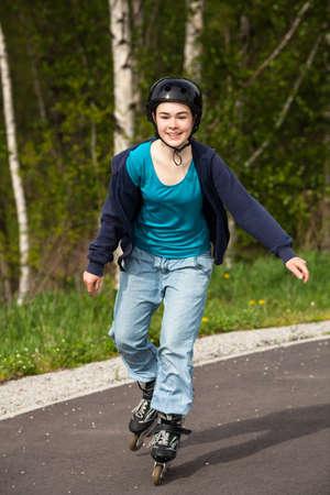rollerblading: Girl rollerblading