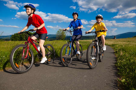 bike ride: Active family biking