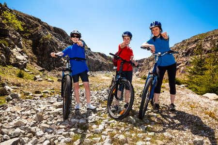 woman bike: Family biking