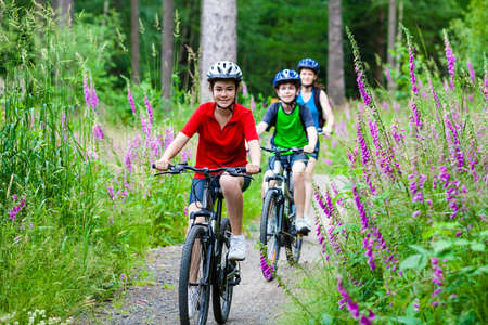 Active family biking photo