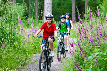 riding bike: Active family biking