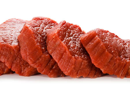 Raw beef on white background Stock Photo - 22161813