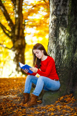 Student learning outdoor photo