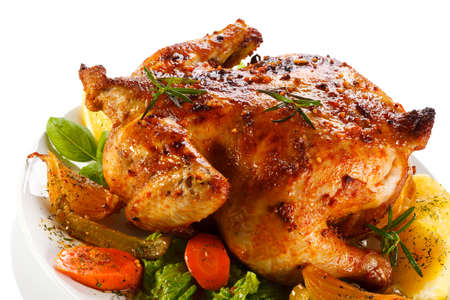 Rost chicken and vegetables photo