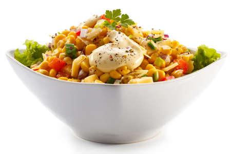 mayonnaise: Vegetable salad