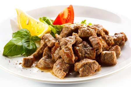 Gebratenes Fleisch und Gemüse Lizenzfreie Bilder