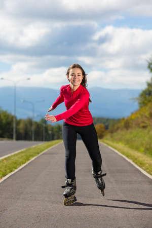 Meisje skaten Stockfoto - 24830803
