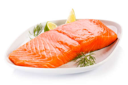 Fresh raw salmon fillet Stock Photo