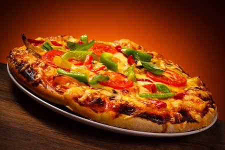 champignons: Pizza
