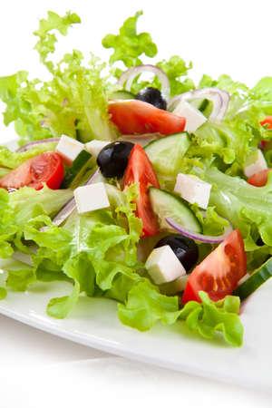 greek food: Vegetable salad with cheese