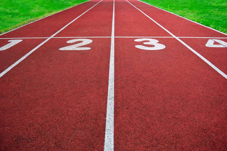 Race track with numbers Stock Photo
