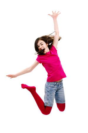 La muchacha que salta