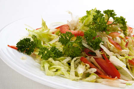 lowfat: A plate of vegetable salad Stock Photo