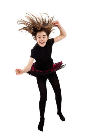 Girl jumping photo