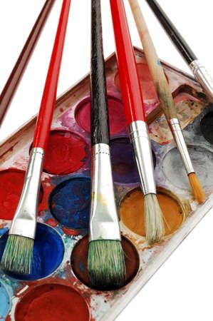 Watercolor paint photo