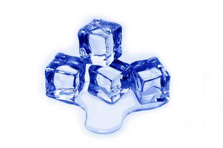 melting ice: Close up of ice cubes