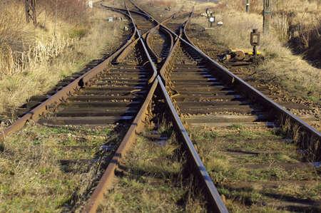 railway track: Railroad tracks