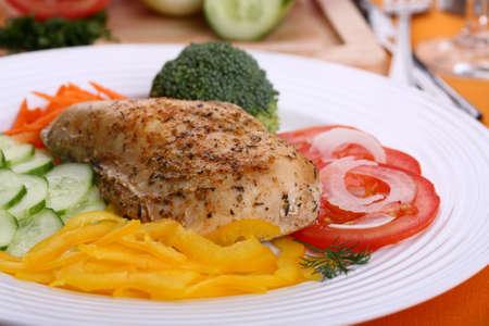 Filet de poulet rôti aux légumes