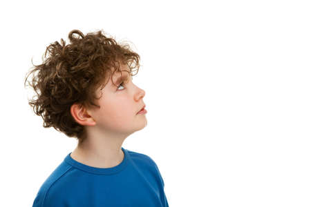 looking away from camera: boy looking away from camera Stock Photo