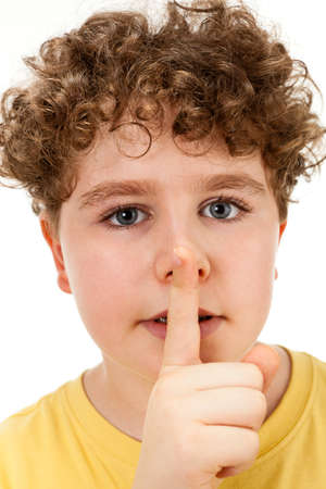 noiseless: Boy with silent gesture