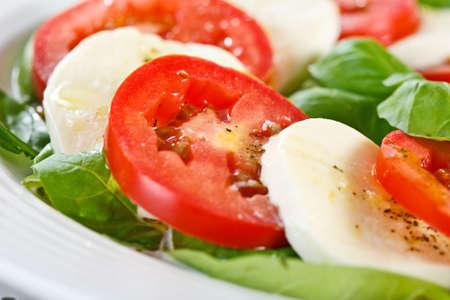 caprese salad: Caprese salad on plate