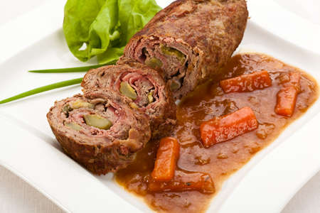 roulade: Stuffed beef and vegetables