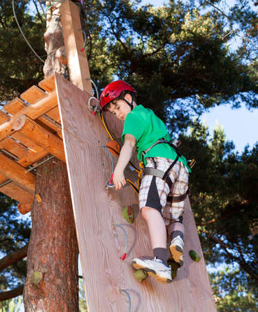 obstacles: Boy doing an obstacle course Stock Photo