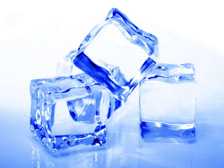 cooled: Close up of ice cubes