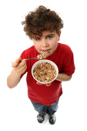10's: Boy eating cereal