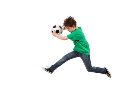 10s: Boy jumping Stock Photo