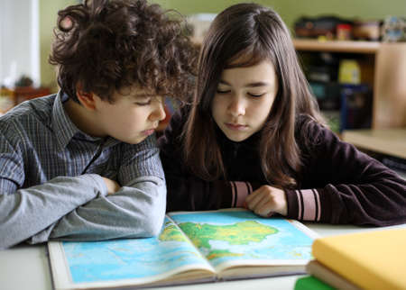 homework student: Kids learning at home