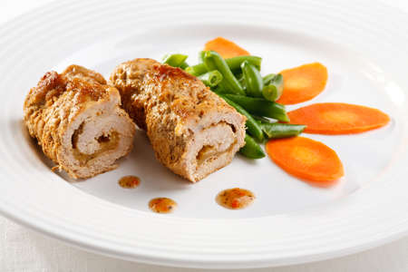 roulade: Pork chop and vegetables