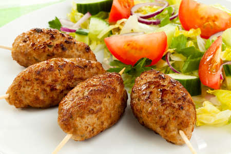 donner: Roasted kebab with vegetables  Stock Photo